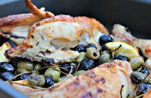 kylling med citron og oliven