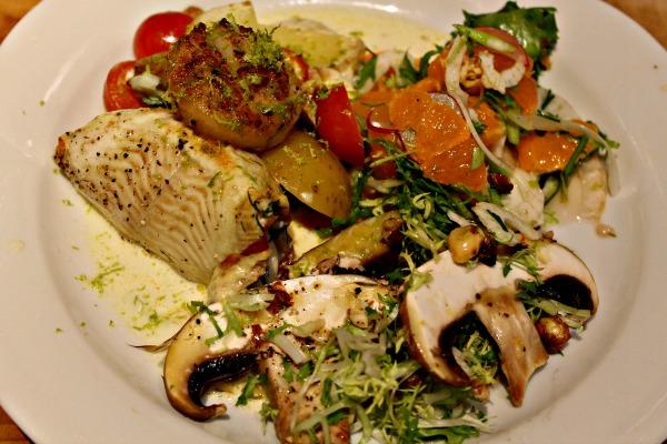 fisk med gulerodssalat