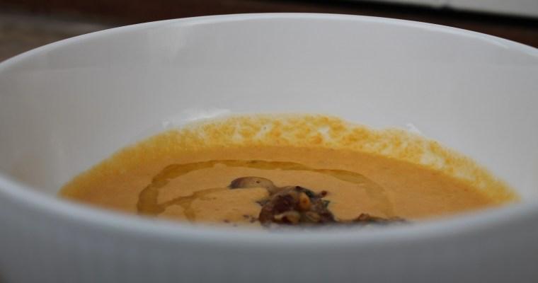 Cremet bagt kålrabisuppe i uge 2 – vuggestuen
