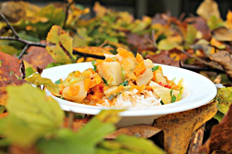 Vegetar curry med ris