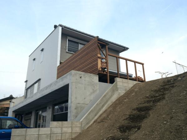 岐阜県南濃町の南濃の家増築工事(屋根、外壁、樋)のご紹介です