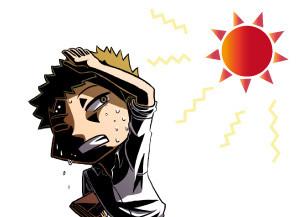 日焼けが気になる男性