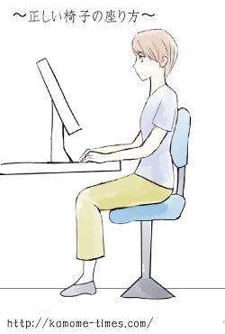 正しい椅子の座り方のイラスト