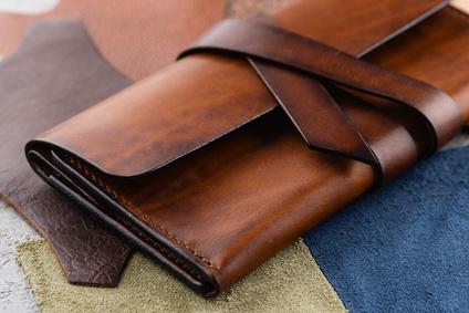 本革の財布