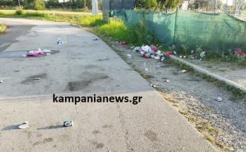 Σκουπίδια στο Κλειστό Χαλάστρας