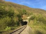 Verlaten spoorlijn bij camping
