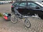 HP Velotechnik Streetmachine met Bob Yak fietstrailer