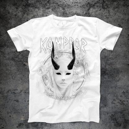 Kampfar - Trolldomssanger (white T-Shirt) | Official Kampfar Merchandise Webshop Webstore Onlineshop