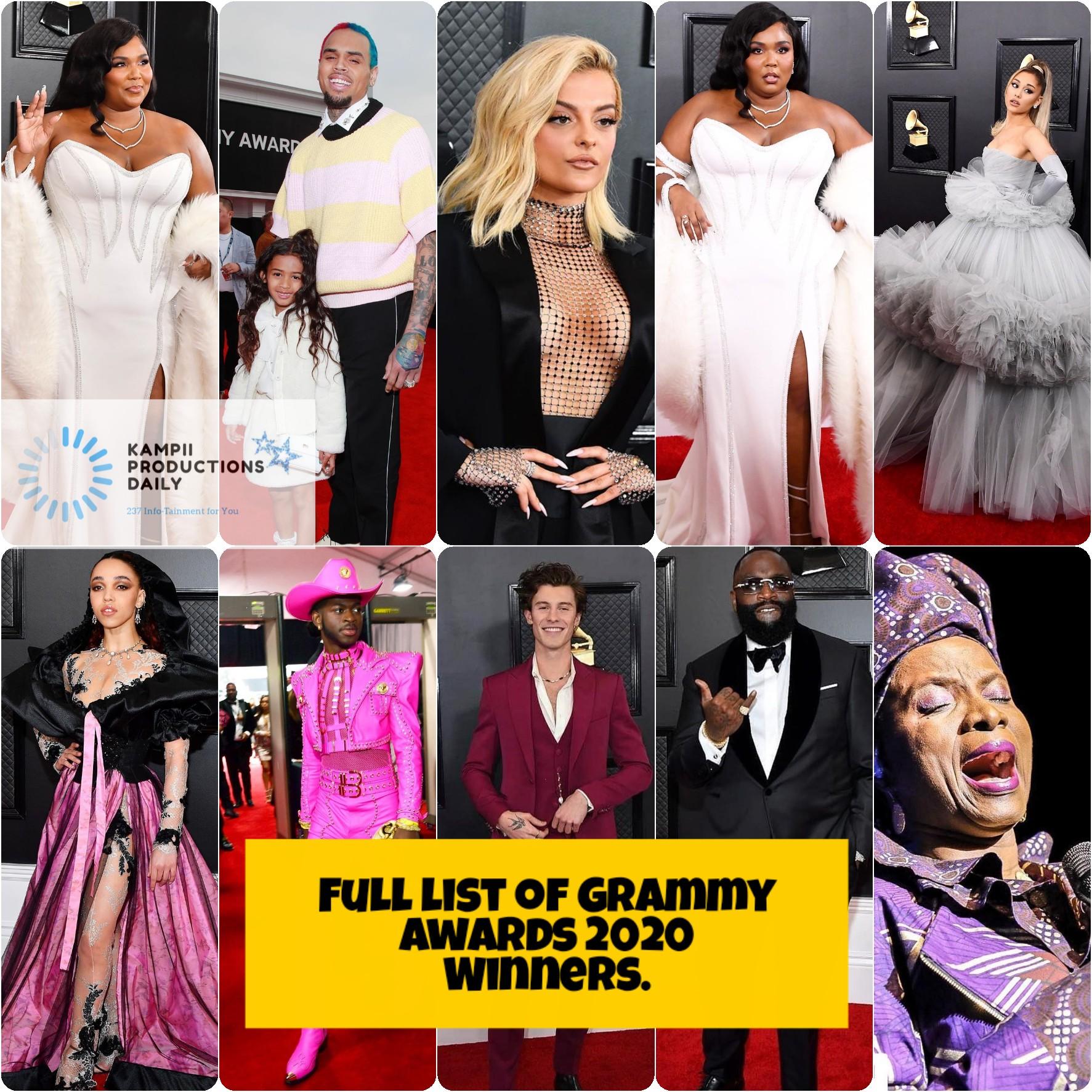 Grammy Awards 2020 Full list of winners!