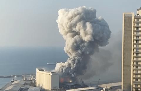 Large Explosion Rocked Lebanon Today
