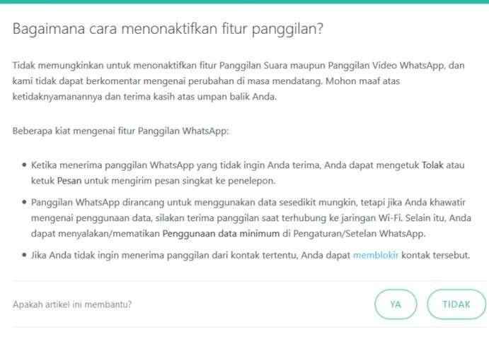 Inilah 7 Cara Menonaktifkan Panggilan Whatsapp Tanpa Aplikasi