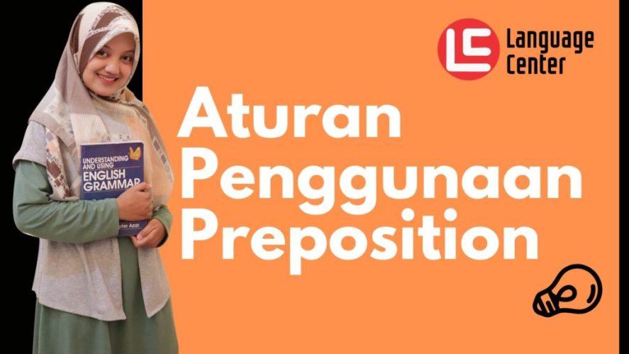 Aturan Penggunaan Preposition