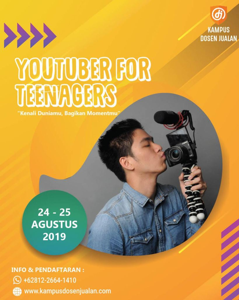 KELAS YOUTUBER FOR TEENAGERS