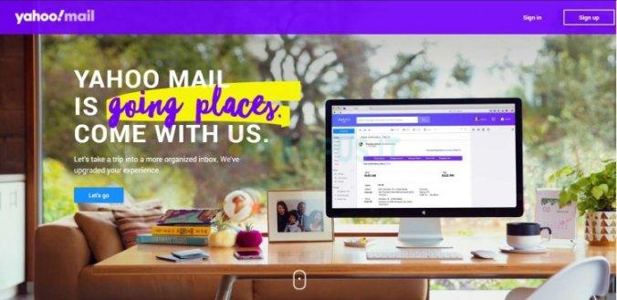 Membuat email Yahoo di browser desktop