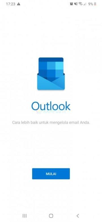 Cara membuat email Outlook di HP Android