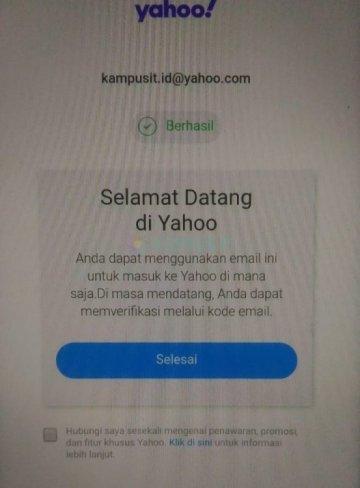 Cara membuat email Yahoo baru di Android