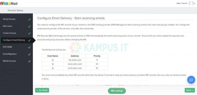 Membuat email pribadi dengan email hosting Zoho mail