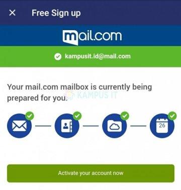 Membuat email mailcom di hp terbaru