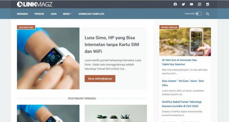 LinkMagz Template Blogger SEO Mas Sugeng