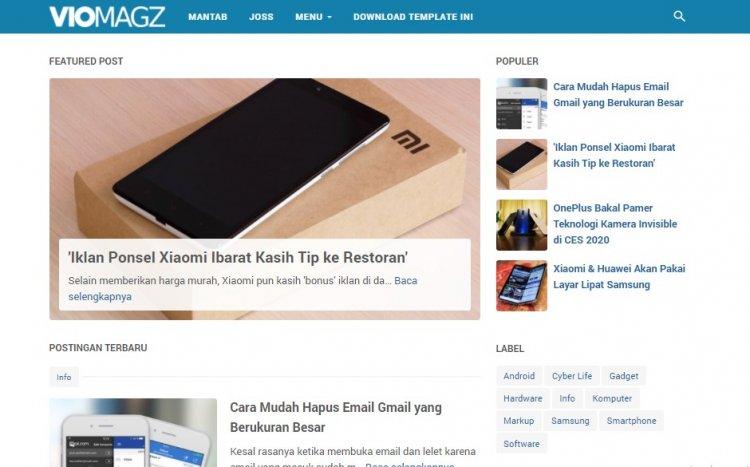VioMagz Template Blogger SEO Mas Sugeng