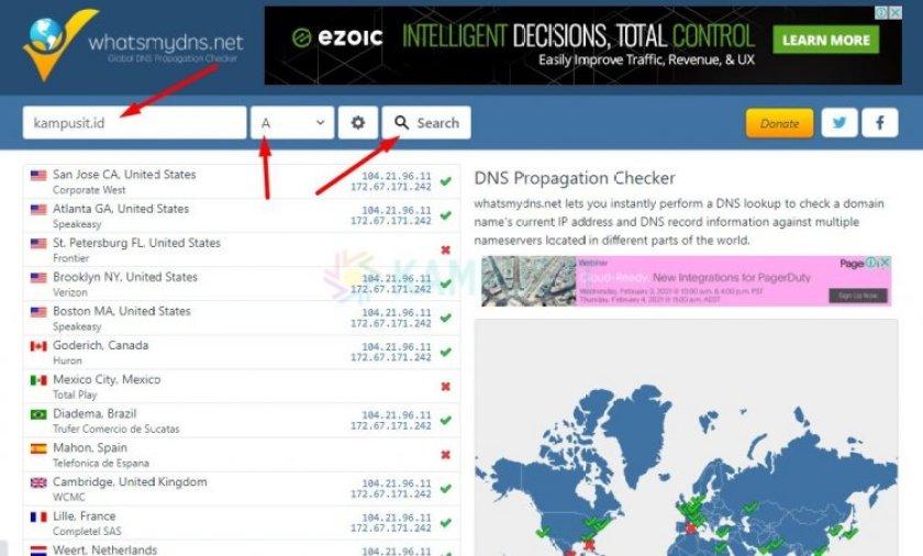 Apa itu DNS - Cara Cek Propagansi Domain pakai DNS Checker
