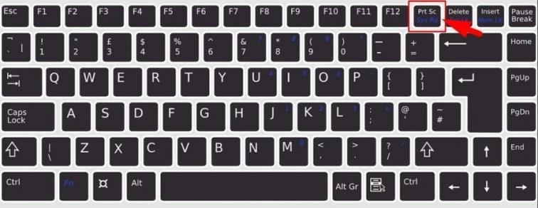 Print Screen Laptop