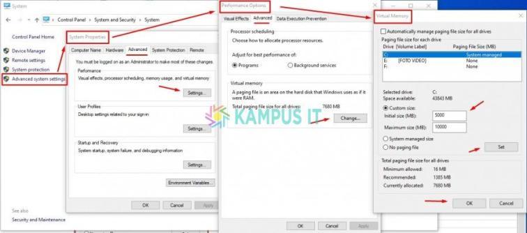 Set Virtual Memory Windows 10 untuk Mempercepat Kinerja Laptop