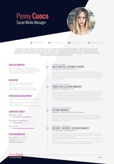 Template CV modern. (Download gratis)