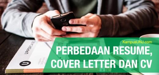 perbedaan resume dan cover letter