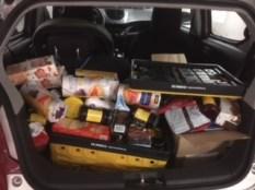 Een volle kofferbak