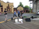 Performing as an airband on granville island