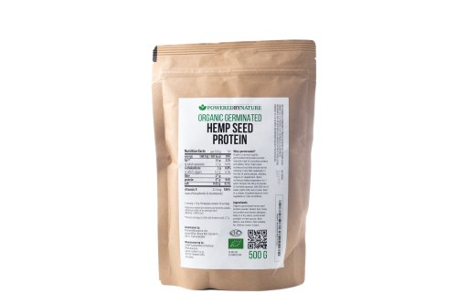 hemp seed protein powder back