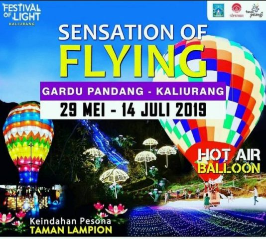 Wahana Balon Udara Raksasa Kaliurang Meriahkan 'Festival of Light'
