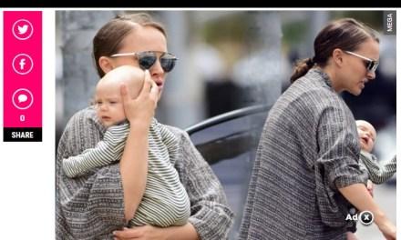 Се појави слика од Натали Портман и нејзината тримесечна керќа Амалија