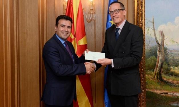 Средба на премиерот Заев со британскиот амбасадор Гарет