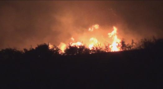Вечерва избувнале три пожари за неполн час кај Попчево и над Вељуса