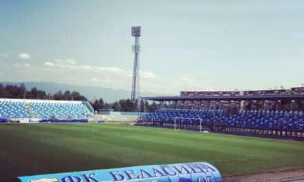 Фото – Стадионот Младост во Струмица блесна во сино бела боја !!!