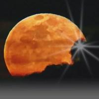 Mond über La Palma