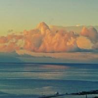 Schwebende Haufenwolken