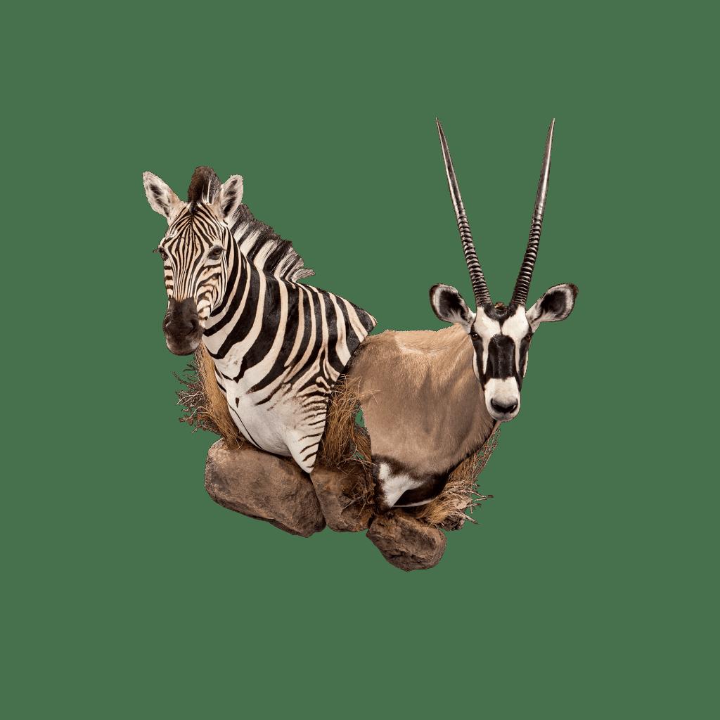 multiple animal wall mount