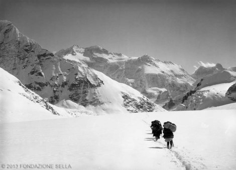 VITTORIO SELLA 1899 | Kanchenjunga dalla costa occidentale del Jonsong - La
