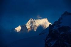 Siniolchun from South Simvo Glacier