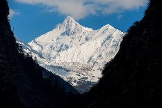Kanchenzonga and Zemu: first vision after 4 days of forest