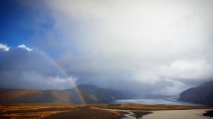 Islande arc en ciel glacier