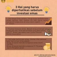 FYEI: 3 Hal yang Harus Diperhatikan Sebelum Investasi Emas