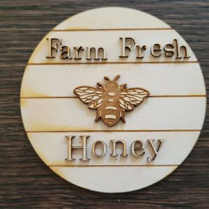 Farm Fresh Honey Wood Cut Out, Perfect For A Tier Tray