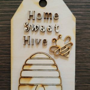 Home Sweet Hive Wood Cut Out, Perfect For A Tier Tray