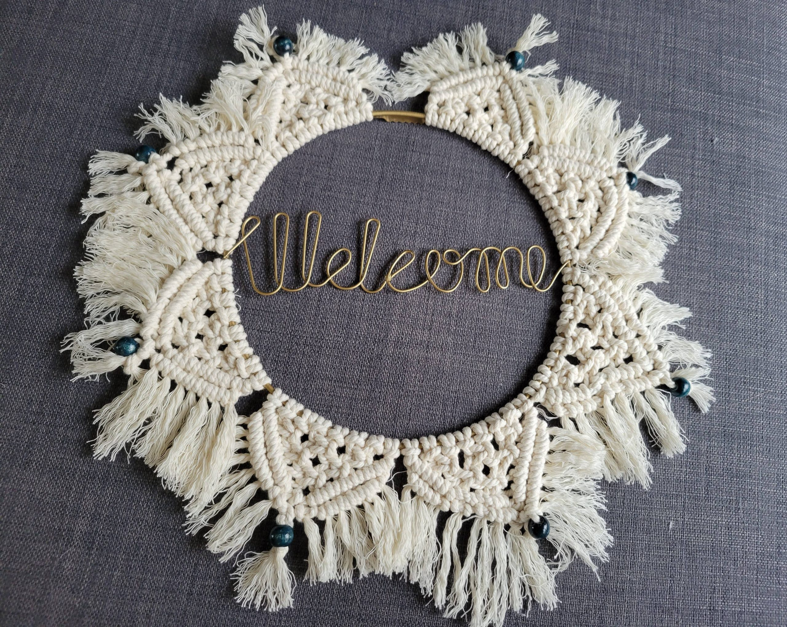 You are currently viewing DIY Macramé Wall Hanging Welcome Mandala Wreath