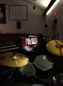 Rehearsing Negro spirituals with organist extraordinaire Mr. Winston (we both adore Rance Allen!)