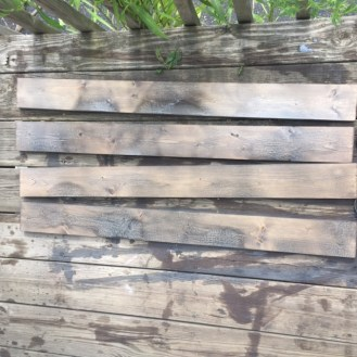 Aged grey stain applied